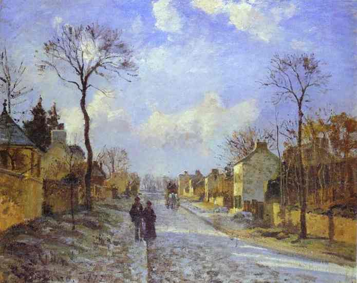 The Road to Louveciennes - Camille Pissarro