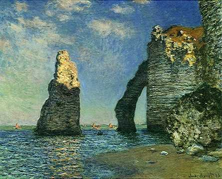 Rock Needle and the Porte d'Aval - Claude Monet