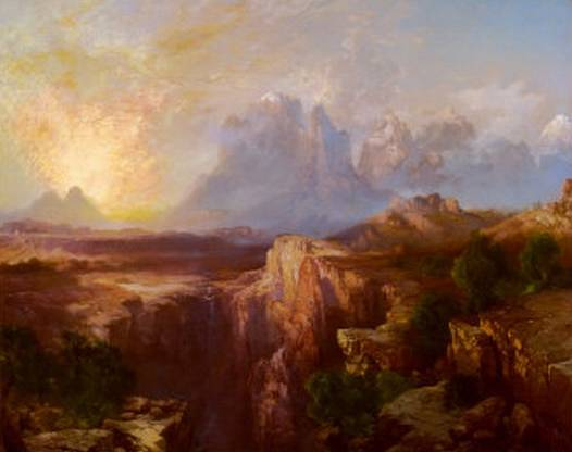 Rock Towers of the Rio Virgin - Thomas Moran
