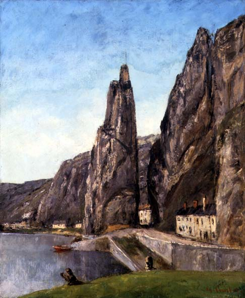 Rock at Bayard, Dinant - Gustave Courbet