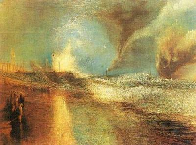 Rockets and Blue Lights - Joseph Mallord William Turner