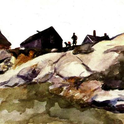 Rocks at Fort Gloucester - Edward Hopper