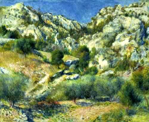 Crag at l'Estaque - Pierre Auguste Renoir