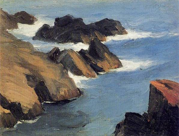 Rocky Sea Shore - Edward Hopper