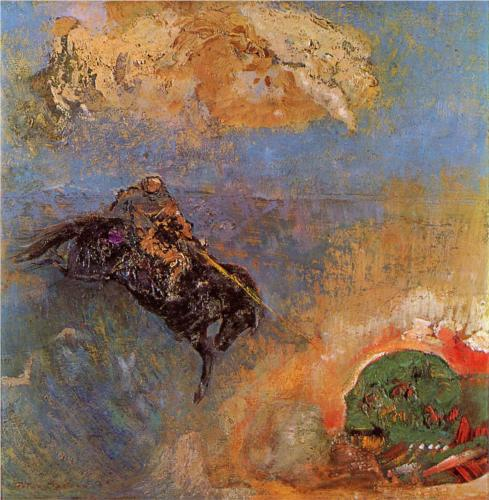 Roger and Angelica - Odilon Redon