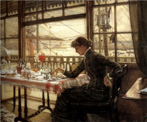 Room Overlooking the Harbor - James Tissot