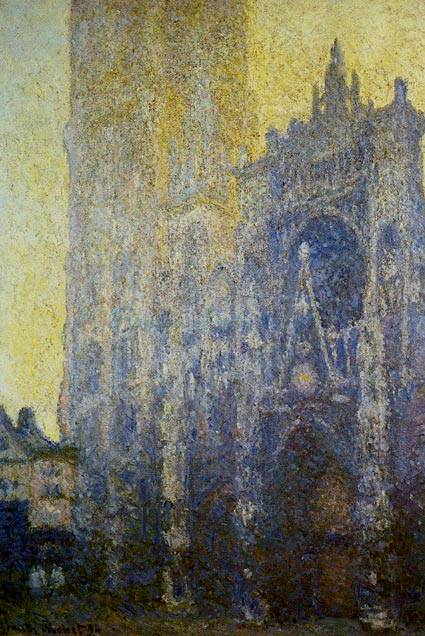 Rouen Cathedral in Morning - Claude Monet