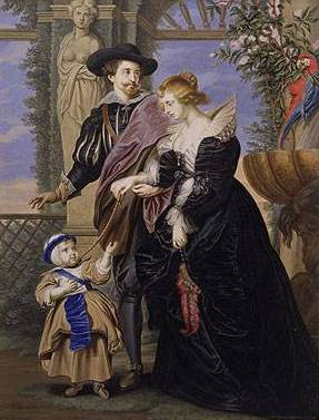 Rubens, his Wife and Son - Peter Paul Rubens