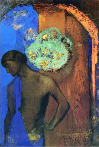 Saint John (Blue Tunic) - Odilon Redon