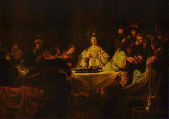 Samson Putting Forth His Riddles at the Wedding Feast - Rembrandt van Rijn