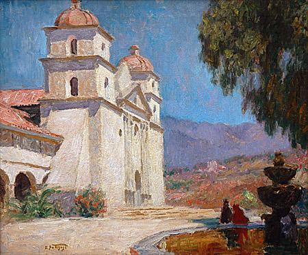 Santa Barbara Mission - Edward Potthast