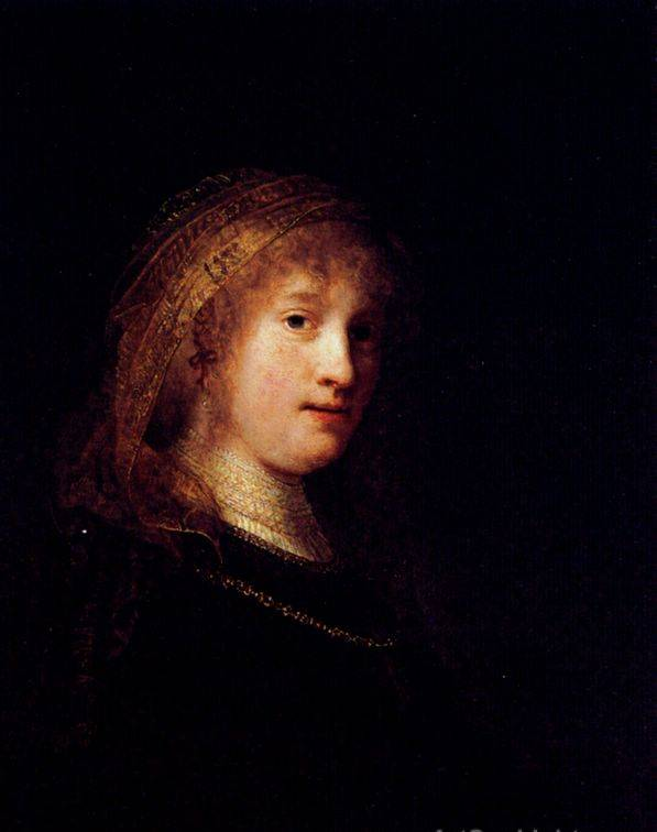 Saskia van Uilenburgh, the Wife of the Artist - Rembrandt van Rijn