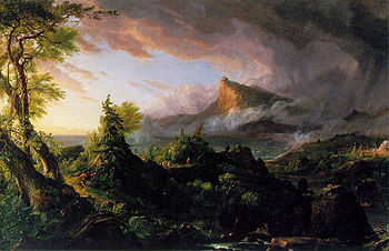 Savage State Course of Empire - Thomas Cole
