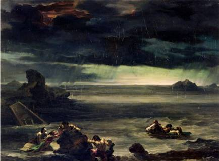 Scene of the Deluge - Theodore Gericault