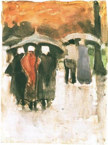 Scheveningen Women Under Umbrellas - Vincent Van Gogh