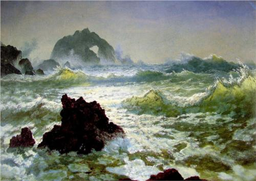 Seal Rock, California - Albert Bierstadt