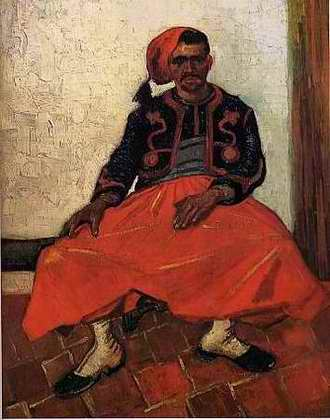 The Seated Zouave - Vincent van Gogh