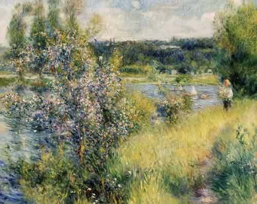 The Seine at Chatou - Pierre Auguste Renoir