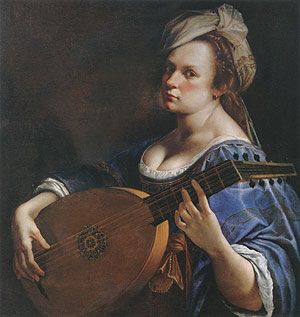 Self Portrait as a Lute Player - Artemisia Gentileschi