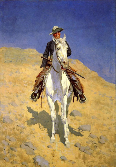 Self Portrait on a Horse - Frederic Remington