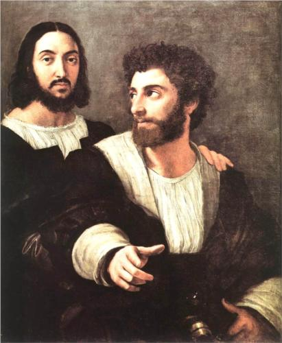 Self Portrait with a Friend - Raffaello Raphael Sanzio