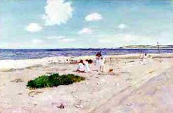Shell Beach at Shinnecock - William Merritt Chase