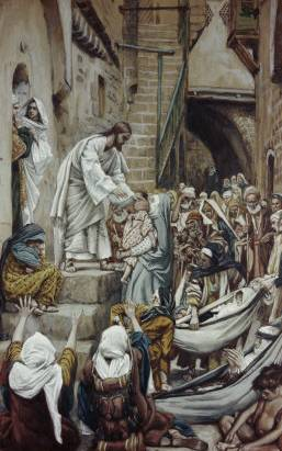 Sick Were Brought Out to Him in the Villages - James Tissot