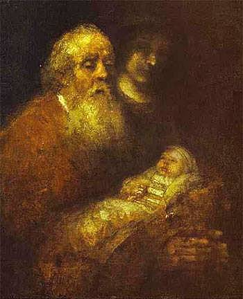 Simeon with the Christ Child in the Temple - Rembrandt van Rijn