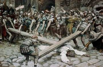 Simon the Cyrenian, Compelled to Bear the Cross - James Tissot