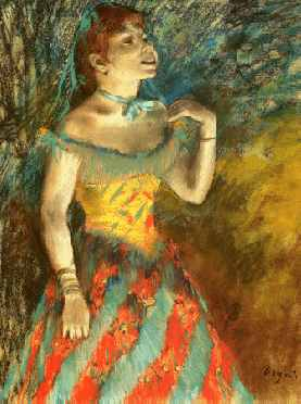 painting, Singer in Green, by Degas