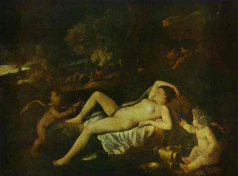 Sleeping Venus and Cupid - Nicolas Poussin