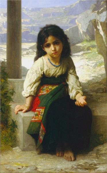 Small Beggar - William Adolphe Bouguereau