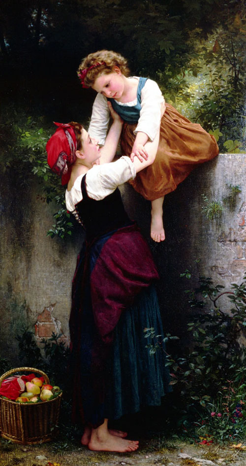 Small Maraudeuses - William Adolphe Bouguereau