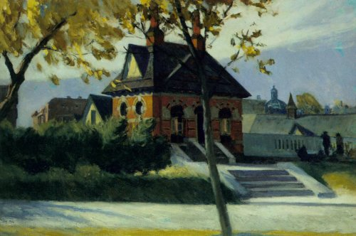 Small Town Station - Edward Hopper