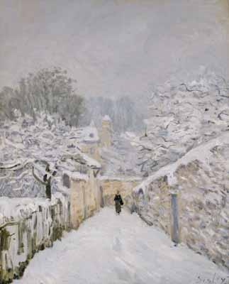 Snow at Louveciennes - Alfred Sisley