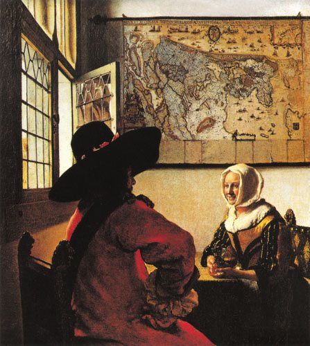 Soldier and a Laughing Girl - Jan Vermeer van Delft