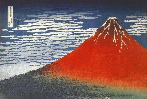 South Wind at Clear Dawn - Katsushika Hokusai