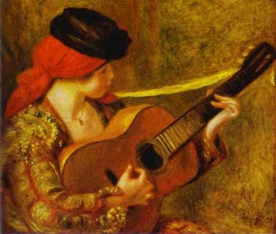 Spanish Woman with a Guitar - Pierre Auguste Renoir
