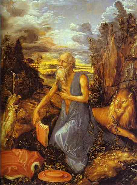 St Jerome in the Wilderness - Albrecht Durer