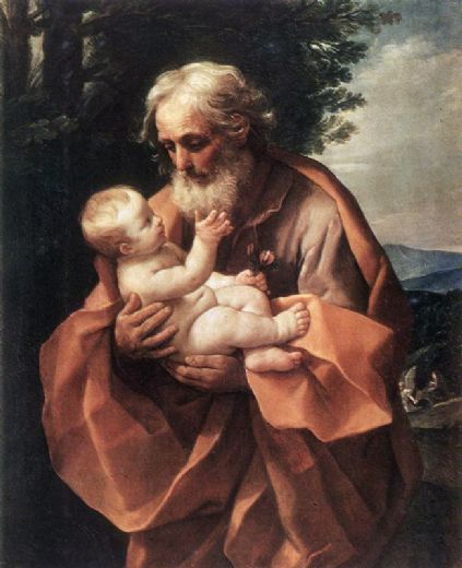 St Joseph with the Infant Jesus - Guido Reni