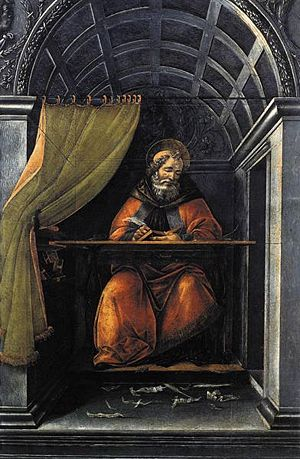 St. Augustine in His Cell - Sandro Botticelli