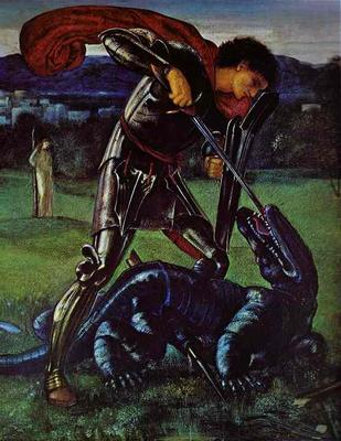 St. George and the Dragon - Edward Coley Burne Jones