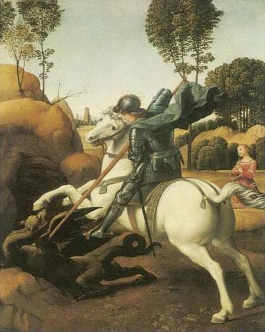 St. George and the Dragon - Raffaello Raphael Sanzio