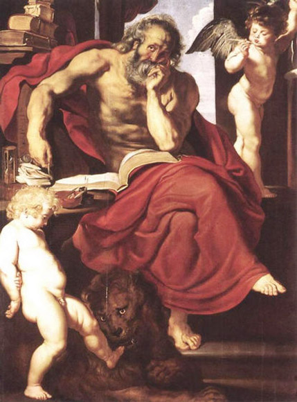St. Jerome in His Hermitage - Peter Paul Rubens