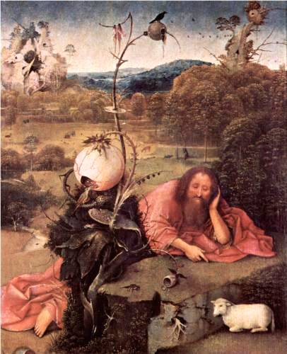 St. John the Baptist in Meditation - Hieronymus Bosch