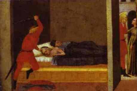 St. Julian Slaying His Parents - Masaccio