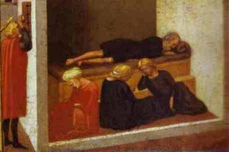 St. Nicholas Saving Three Sisters from Prostitution - Masaccio