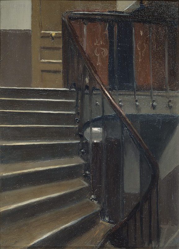 Stairway at 48 rue de Lille, Paris - Edward Hopper