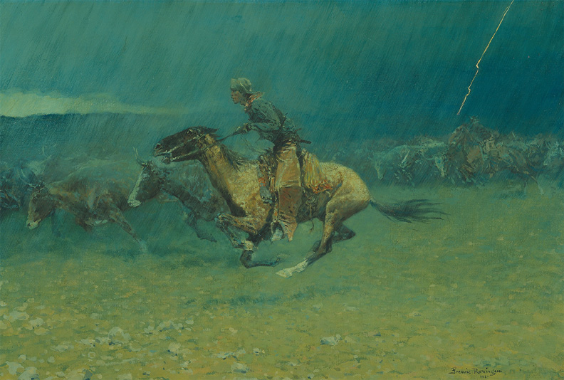 The Stampede - Frederic Remington