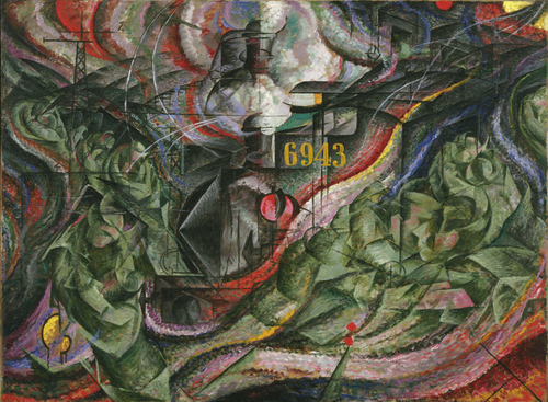 States of Mind I: The Farewells - Umberto Boccioni